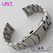 Banda totalmente de acero del metal tira de acero del reloj diseño general es 24 mm plana en cien