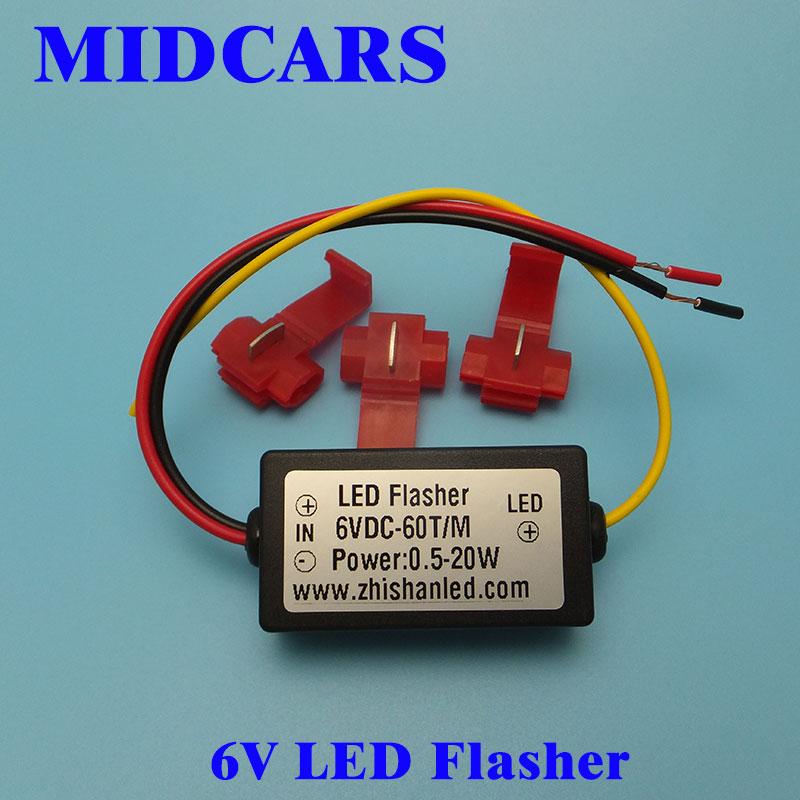 MIDCARS 6V Flasher Controller Car LED Flash Strobe For Turn Signal Lights Warning Light