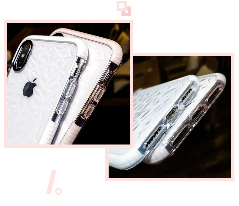 Soft Diamond Cover for IPhone X 8 7 6 Plus Samsung S8 S9 Plus Huawei P20 Water Feeling Case Candy Color Anti Knock Clear Back