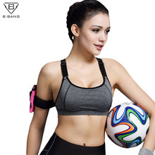 B.BANG Women Sports Bra For Running Gym Fitness Padded Shakeproof Push Up Bras Top Seamless Underwear For Woman(China)