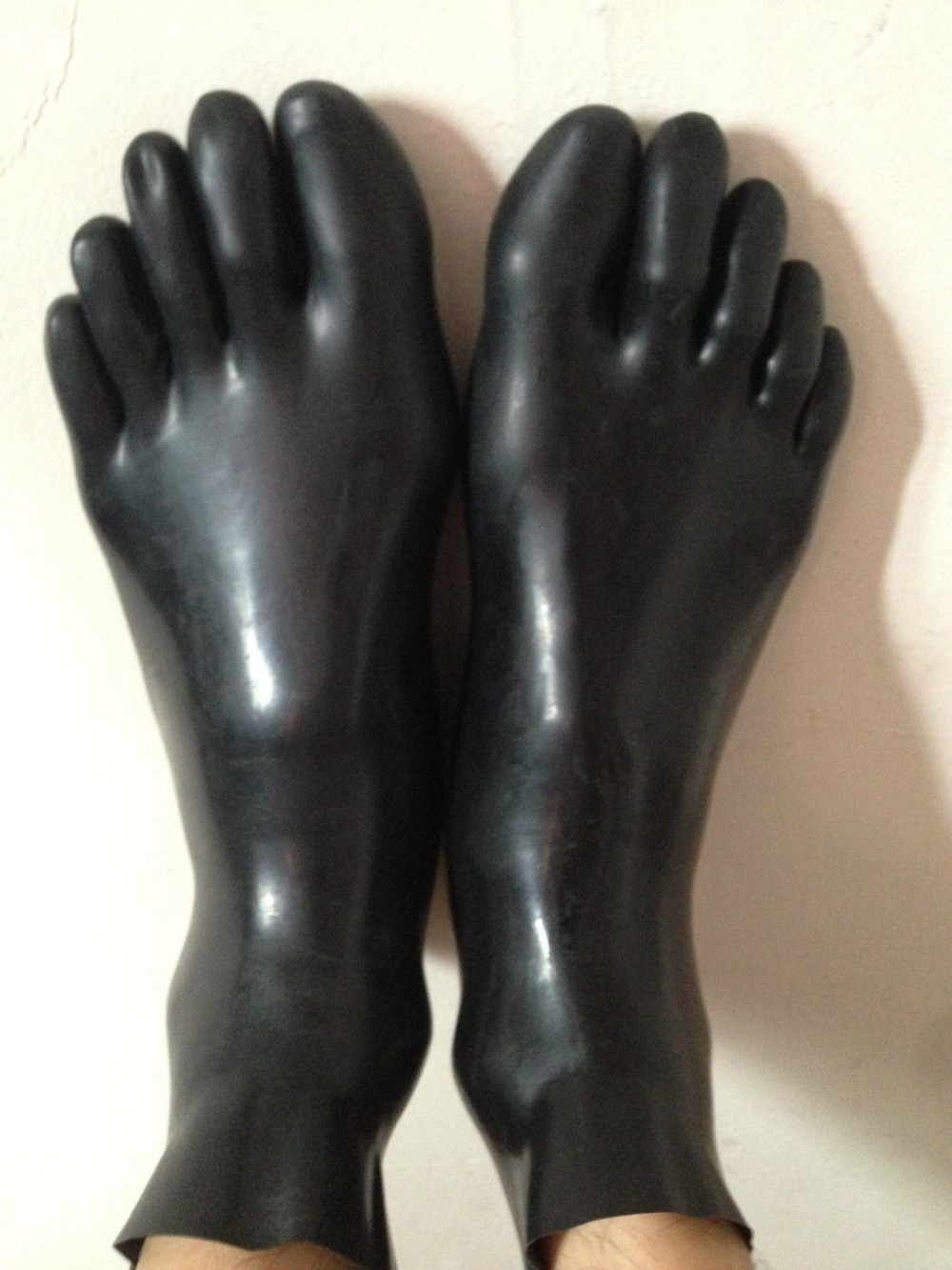 Special Offer Instock Latex Fetish Sock Latex Rubber Toe Sock Unisex Latex Rubber Short Sock 0.4mm Thickness black only M size
