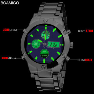 Image 3 - BOAMIGO Top Luxury Brand Men Military Sports Watches Mans Alloy Led Digital Watches Male Waterproof Wristwatches Reloj Hombre