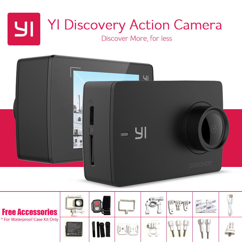 International YI Discovery Action Camera Interpolated 4K 20fps 8MP 16MP Waterproof WIFI 1080P 60fps Touch Screen