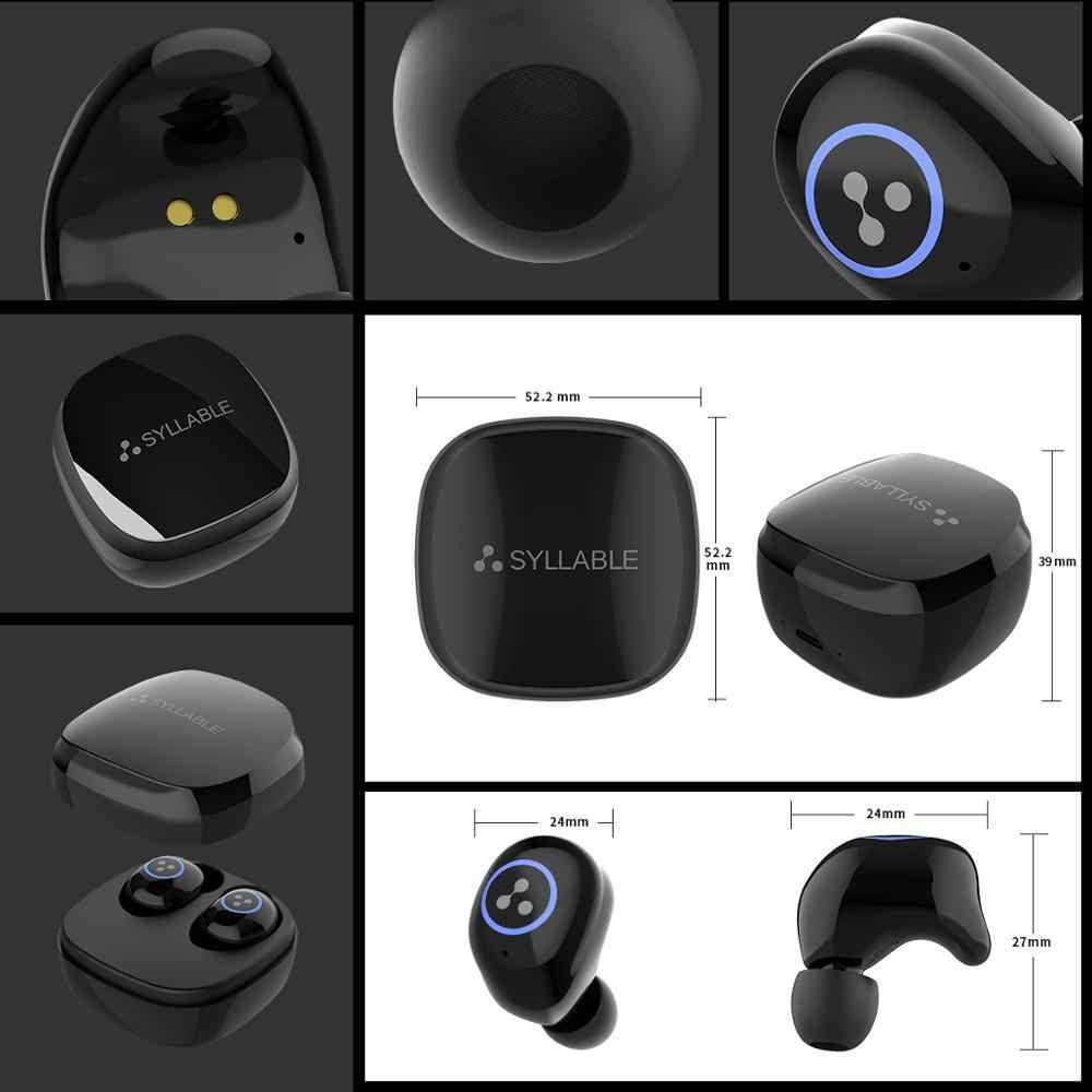 2019 sylaba SD16 dotykowy zestaw słuchawkowy bluetooth sportowe 6 godzin słuchawki prawda Wireless Stereo 800mAh dotykowy słuchawki sylaba SD16