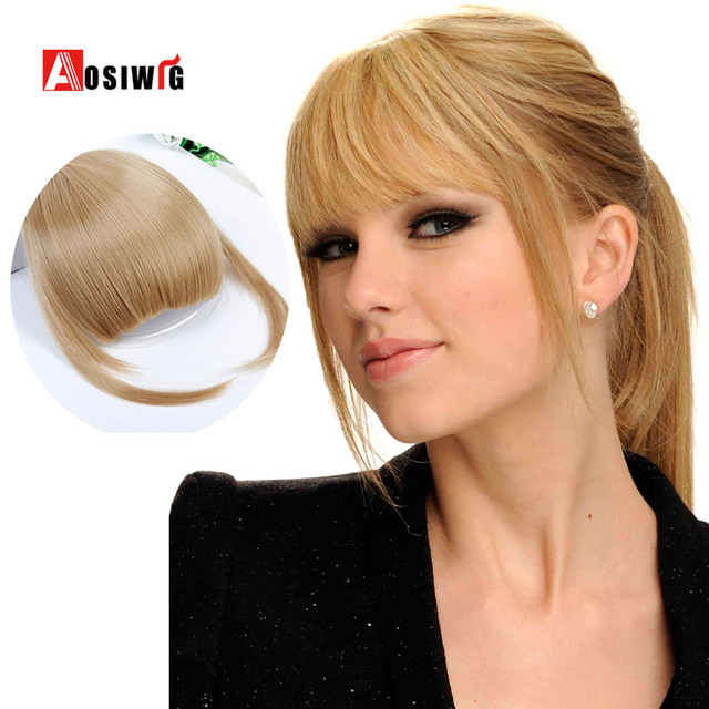 AOSI WIG Clip in bang fringe Hai Short Front Neat bangs straight Synthetic  Fringe Bangs Hairpieces 077bde1d6132