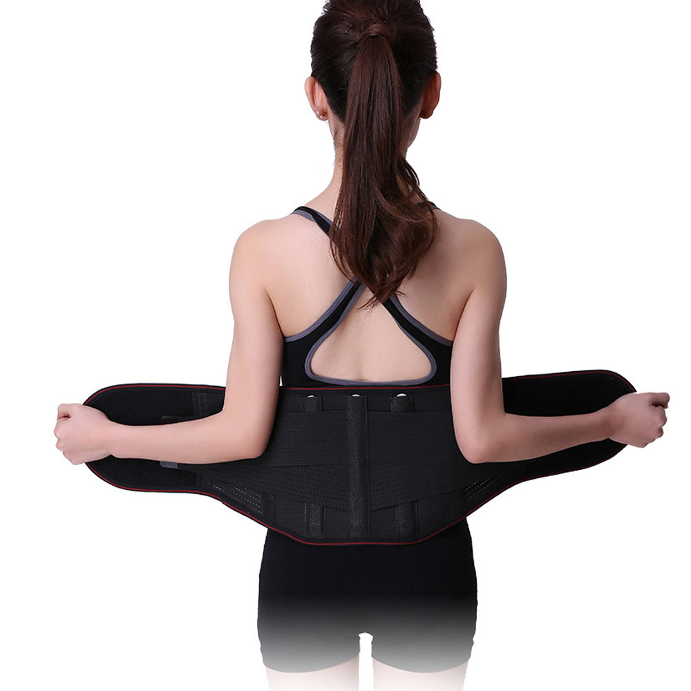 Adjustable Tourmaline Self Heating Magnetic Therapy Waist Support Belt Lumbar Back Waist Support Brace Double Banded Corsets