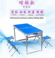 שיפור שולחנות שולחנות וכיסאות שולחנות מתקפלים חיצוני אלומיניום נייד