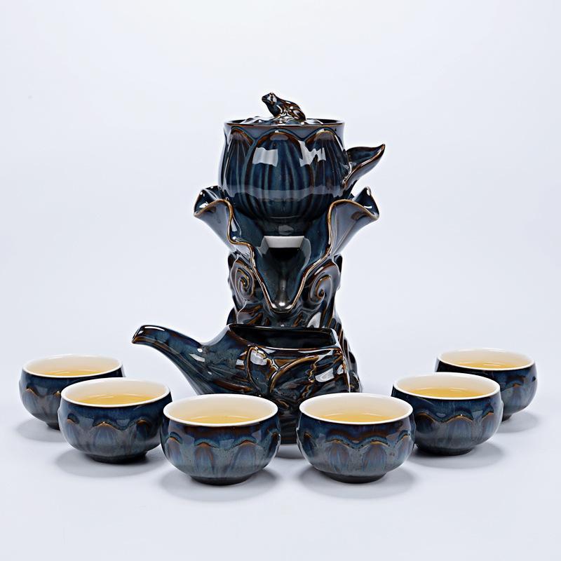 Ensemble de thé traditionnel Lotus Celadon Kung Fu ensemble de thé en porcelaine tasse à thé chinoise ensembles de thé en porcelaine Gaiwan ensemble de thé cadeau de mariage