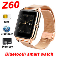 Smart Watch Z60 Bluetooth Smartwatch For Android IOS Apple Call Phone Watch Stainless Steel SIM TF Camera Pedometer WristBand A1