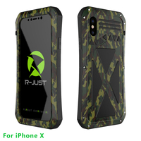 R JUST Luxury Doom Armor Dirt Shock X MAN Silicon Metal Phone Case For Iphone 7