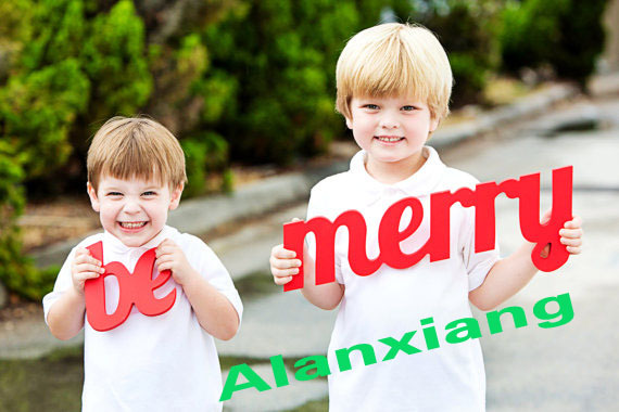 free shipping Holiday Card Photo Prop be merry Holiday Sign Christmas Card Prop for Family Photography