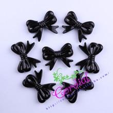 Envío gratis 47 x 37 MM 60 unids/lote negro acrílico arco Beads Beads nudo For moda Kids collar que hace