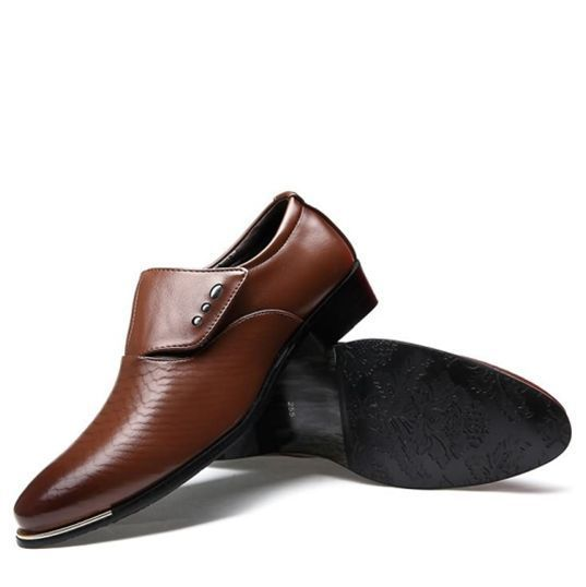 ФОТО New 2017 Oxfords Shoes For Casual Form Shoes Summer Breathable Massage Dress Shoes Black Brown Slip on Size 7-9.5