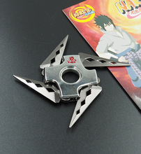 Naruto folding rotating shuriken,Bearing rotating darts,Anime weapon model toys, toy knife