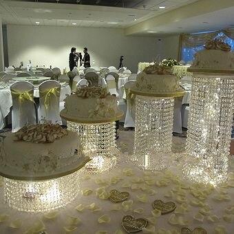 4 pcs/ensemble/Lot support De gâteau En Cristal pièce maîtresse De Gâteau De Mariage décoration D'anniversaire décorations De Mariage décoration d'événement de partie