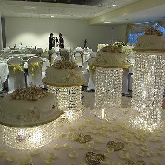 Crystal Cake Stand Centerpiece Wedding Cake Display