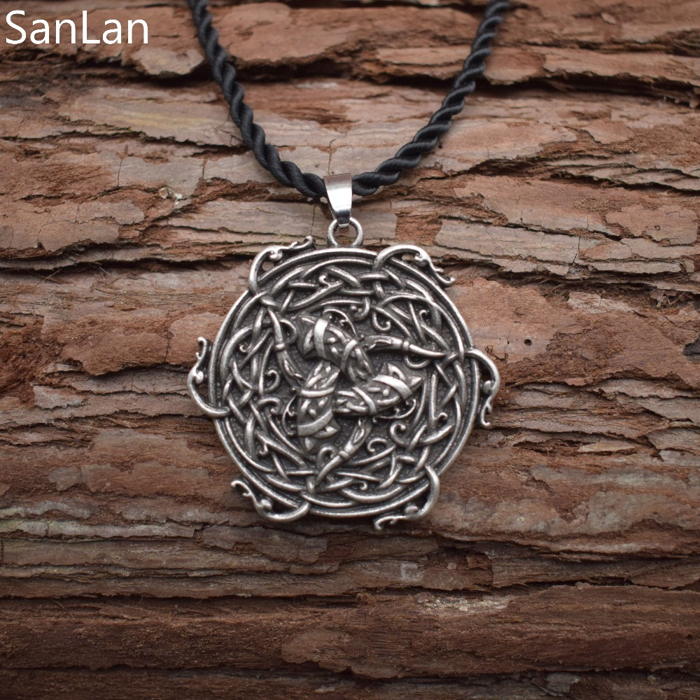 Viking triple horn of odin pendant odins horn pendant horned viking triple horn of odin pendant odins horn pendant horned triskele necklace viking symbol sanlan in chain necklaces from jewelry accessories on buycottarizona