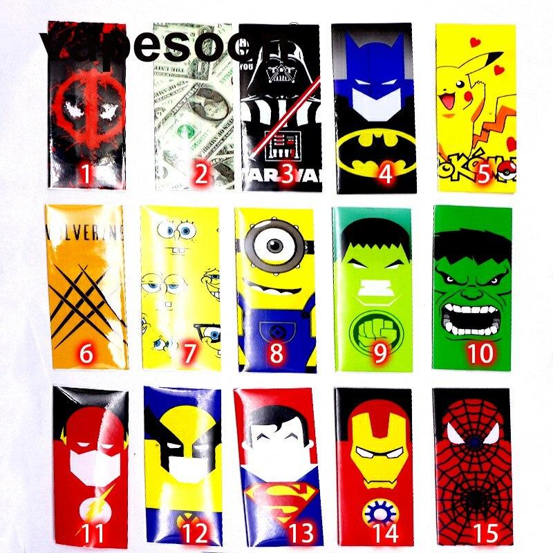 1000 шт. 18650 аккумулятор оболочки vapesoon Super Hero батареи кожи наклейки для электронной сигареты батареи электронной сигареты Человек-паук Капита…