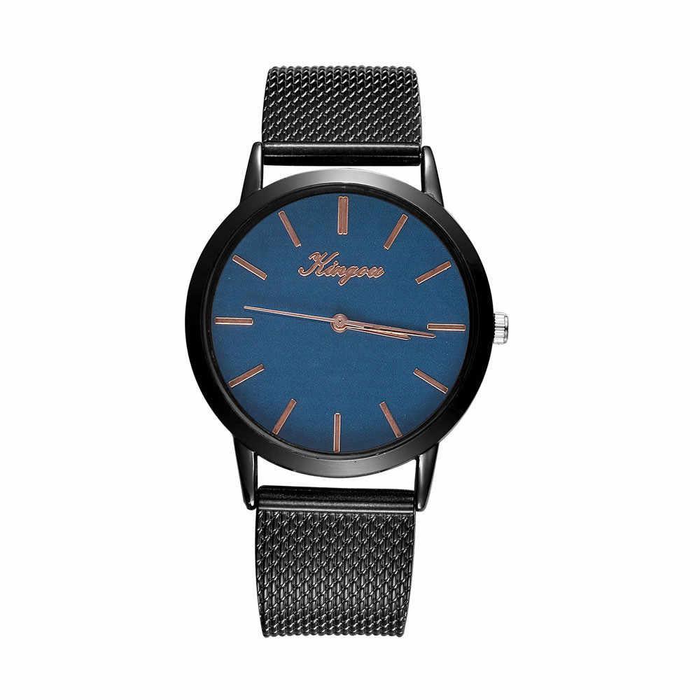 Relojes de mujer de lujo Casual de cuarzo de acero inoxidable Correa reloj de pulsera analógico relojes de pulsera súper calidad reloj mujer # yl