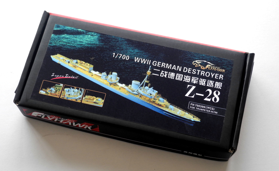 FLYHAWK  Trumpet 05790 German Z-28 destroyer 1/700 with FH700309 super change PE  Assembly model Retrofit parts Warship 1 700 german cruiser prinz eugen with trumpeter 05766 warship assembly model toys retrofit parts