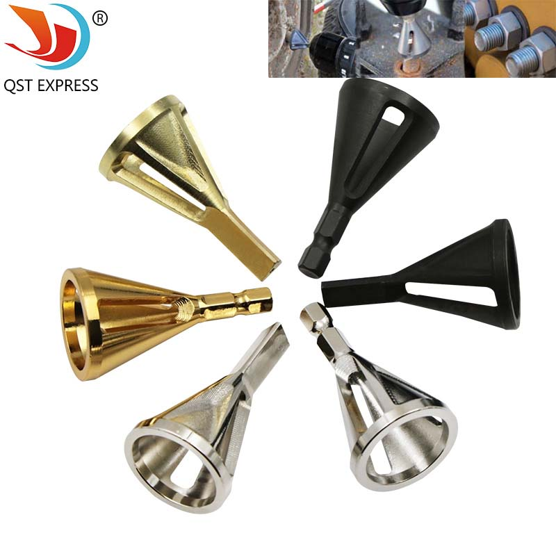 Hex Triangle Shank Stainless Steel Remove Burr Tools For Drill Bit Wood Drilling Deburring External Chamfer Tool