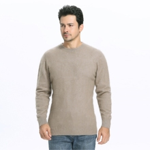 Brand mink  cashmere men's round neck pullover sweater loose warm knitted full sleeve sweater men's clothing Cashmere sweater