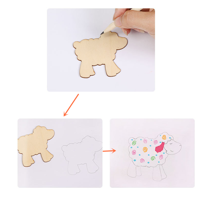 Baby Toys Drawing : Wooden doodles for drawing
