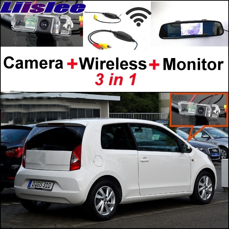 Liislee For SEAT Mii VW Up Citigo Wireless Receiver + Special Rear View Camera + Mirror Monitor Easy DIY Back Up Parking System liislee 3in1 special rear view camera wireless receiver mirror monitor easy parking system for lexus ls430 celsior 2001 2017