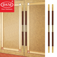 Entrance Door Handle Stainless Steel+Solid Wood Pull Handles For Wooden/Frame Doors PA 722 32*62*1800mm