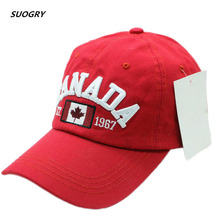 SUOGRY 2018 Cotton Gorras Canada Baseball Cap Flag Of Hat Snapback Adjustable Mens Caps Brand