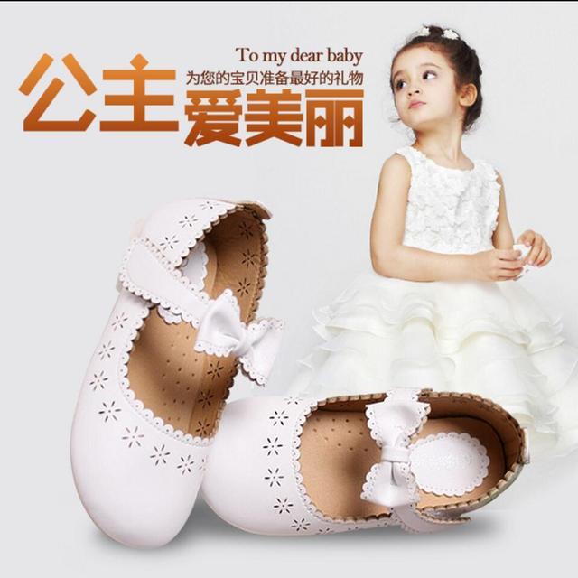 Новый 2016 новый дизайн детской кожаной обуви для девочек повседневная принцесса стиль ребенок lether обувь бесплатная доставка 1-35