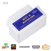Dewtreetali 자동 코드 리더 ELM327 V1.5 PIC18F25K80 칩 ELM327 WIFI 작동 안드로이드 IOS ELM327 V 1.5 자동차 진단 도구