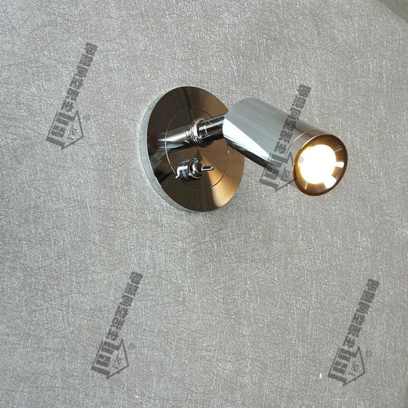 Topoch Recess Lamps Spotlights Directional Head with on off Switch Focusing Lens Chrome Finish for Residential Camper Yacht