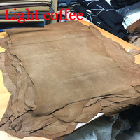 Light Coffee Genuine Pig Split Suede Leather Material Whole Piece