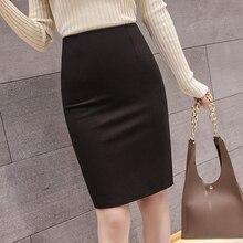 Women Skirts Office Lady High Waist Skirt Plus Size Korean Woman Pencil Bodycon Skirt Summer Women Work Wear Black Skirts Female цена и фото