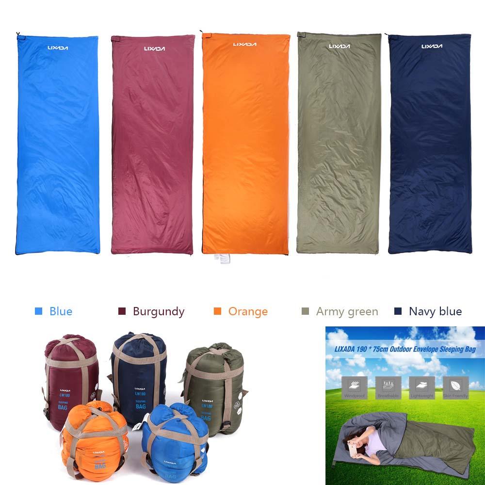 ba534bb9214d LIXADA 190   75cm Outdoor Envelope Sleeping Bag Camping Travel ...