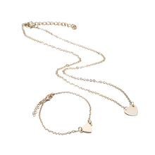 US $0.25 45% OFF|X179 Trendy Simple Dubai Jewelry Sets For Women Heart Shaped Gold/Silver Color Chain Necklace&Bracelet 2pcs Jewelry Set Female -in Jewelry Sets from Jewelry & Accessories on Aliexpress.com | Alibaba Group