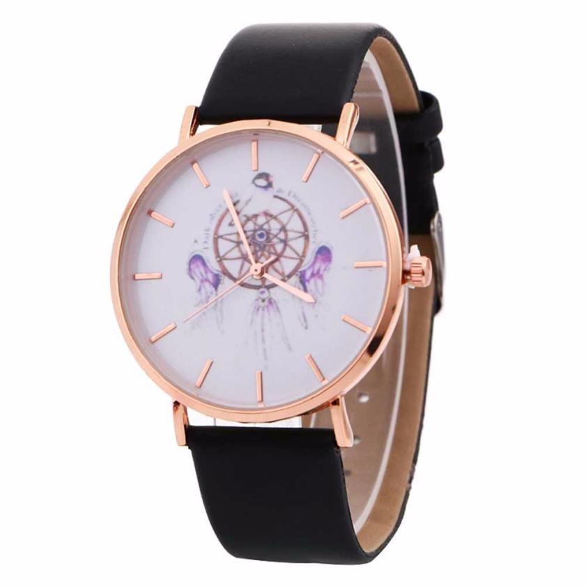 Nuttig Relogio Feminino Vrouwen Horloge Eenvoudige Nieuwe Windgong Patroon Quartz Horloge Lederen Band Riem Tafel Horloge Hot Koop Groothandel #60 Beschikbaar In Verschillende Uitvoeringen En Specificaties Voor Uw Selectie