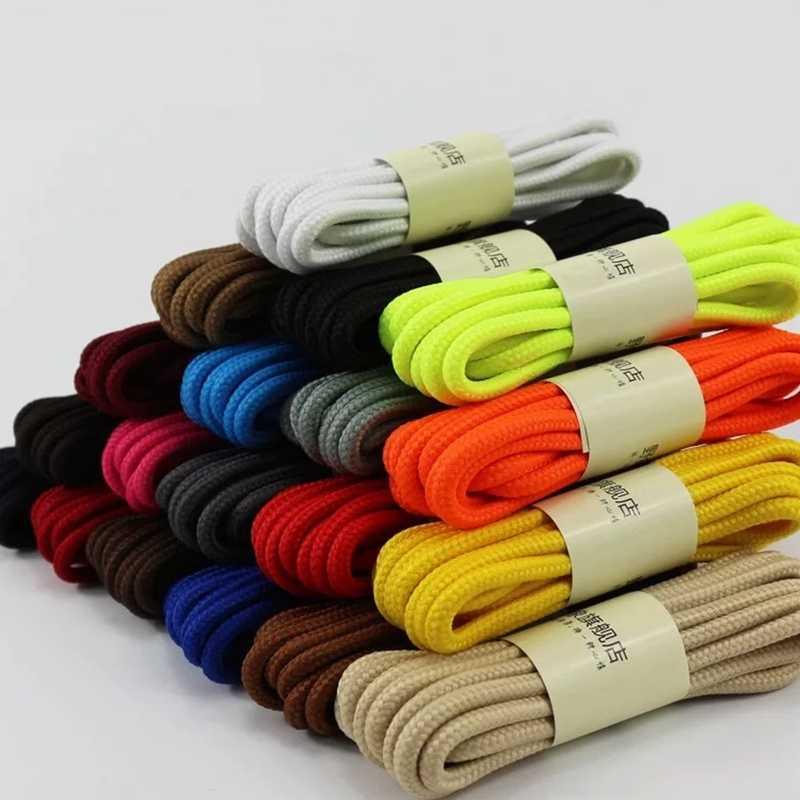 1 пара, 90 см, 120 см, 150 см, классические, высокое качество, полиэстер, однотонные, классические круглые шнурки, Ботинки martin, шнурки ярких цветов