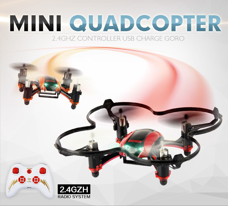 Skytech M67 Mini 2.4GHz 4CH 6-Axis Gyro 360-degree Eversion Headless Mode Remote Control RC Quadcopter UFO with LED Lights RTF