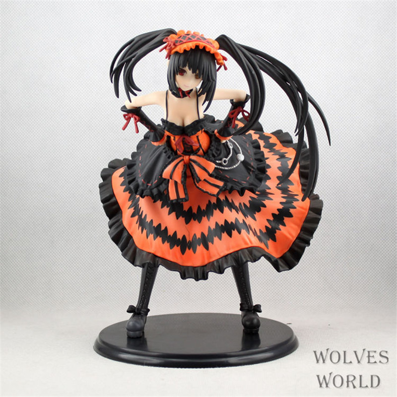 Anime Date A Live Sexy Girl Figure Nightmare Tokisaki Kurumi PVC Action Figure Model Collection Kids Toys Doll 21CM ikon 2016 ikoncert showtime tour in seoul live release date 2016 05 04 kpop