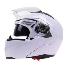 Professional Double Glass Motorcycle Helmet Jiekai Flip Up motorbike He