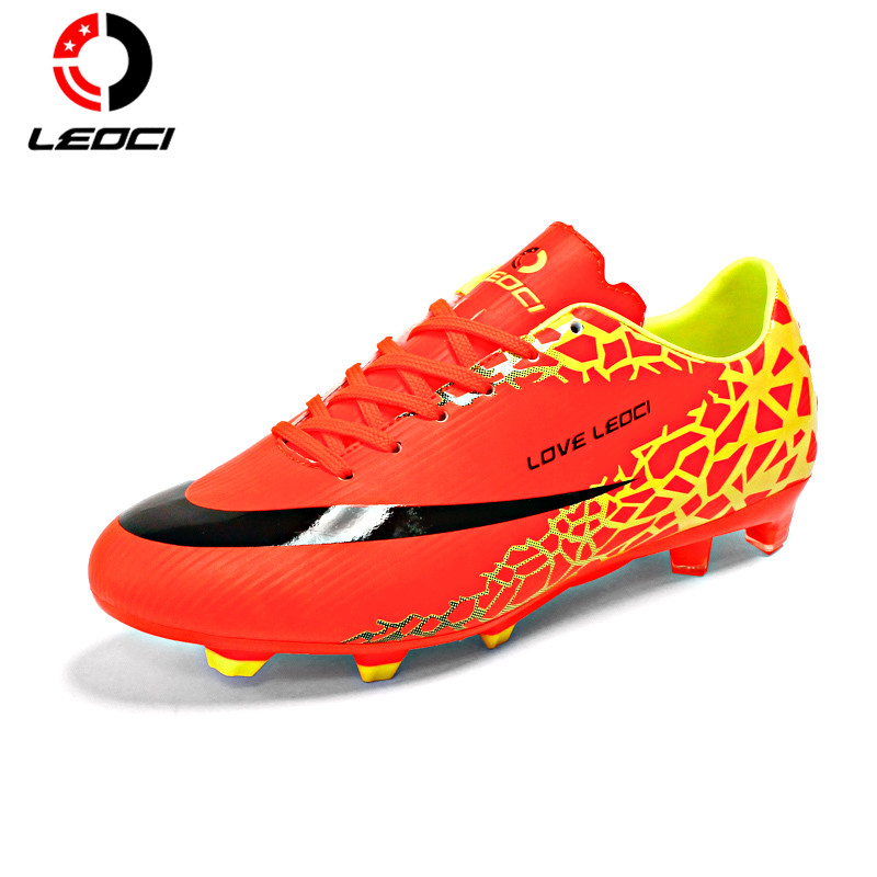 LEOCI Anti-Collision Training Shoes F Football Shoes Boots Outdoor Lawn Soccer Boots for Men/Women/Children Size 33-44 tiebao a8324a hg tpu outsole football shoes women men outdoor lawn soccer boots lace up football boots soccer cleat sneaker