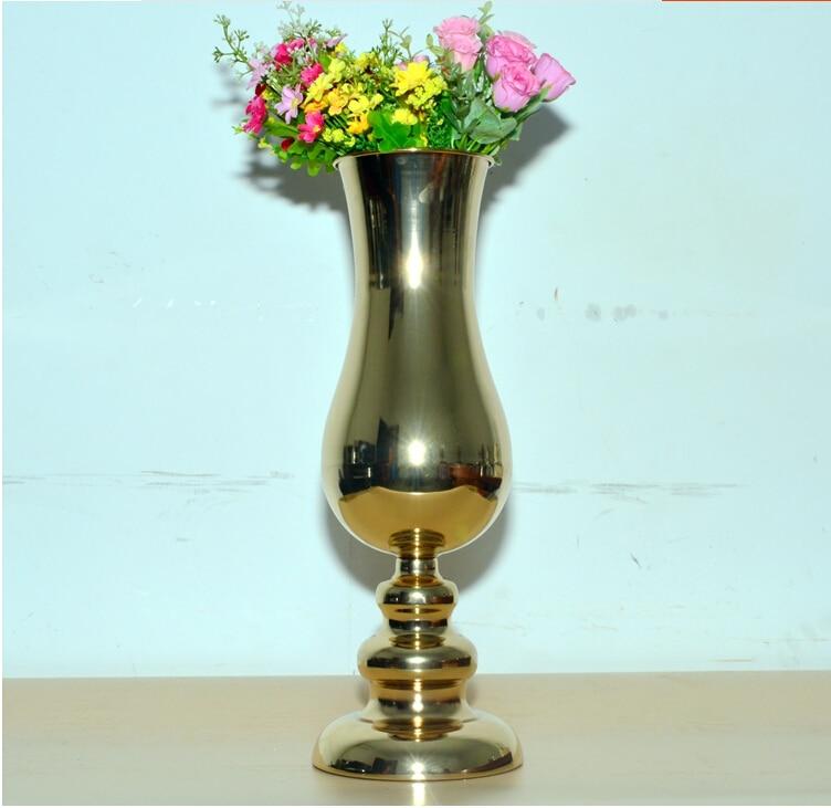 h455cm european gold plated large floor vases wedding decoration vase terrarium hp016china