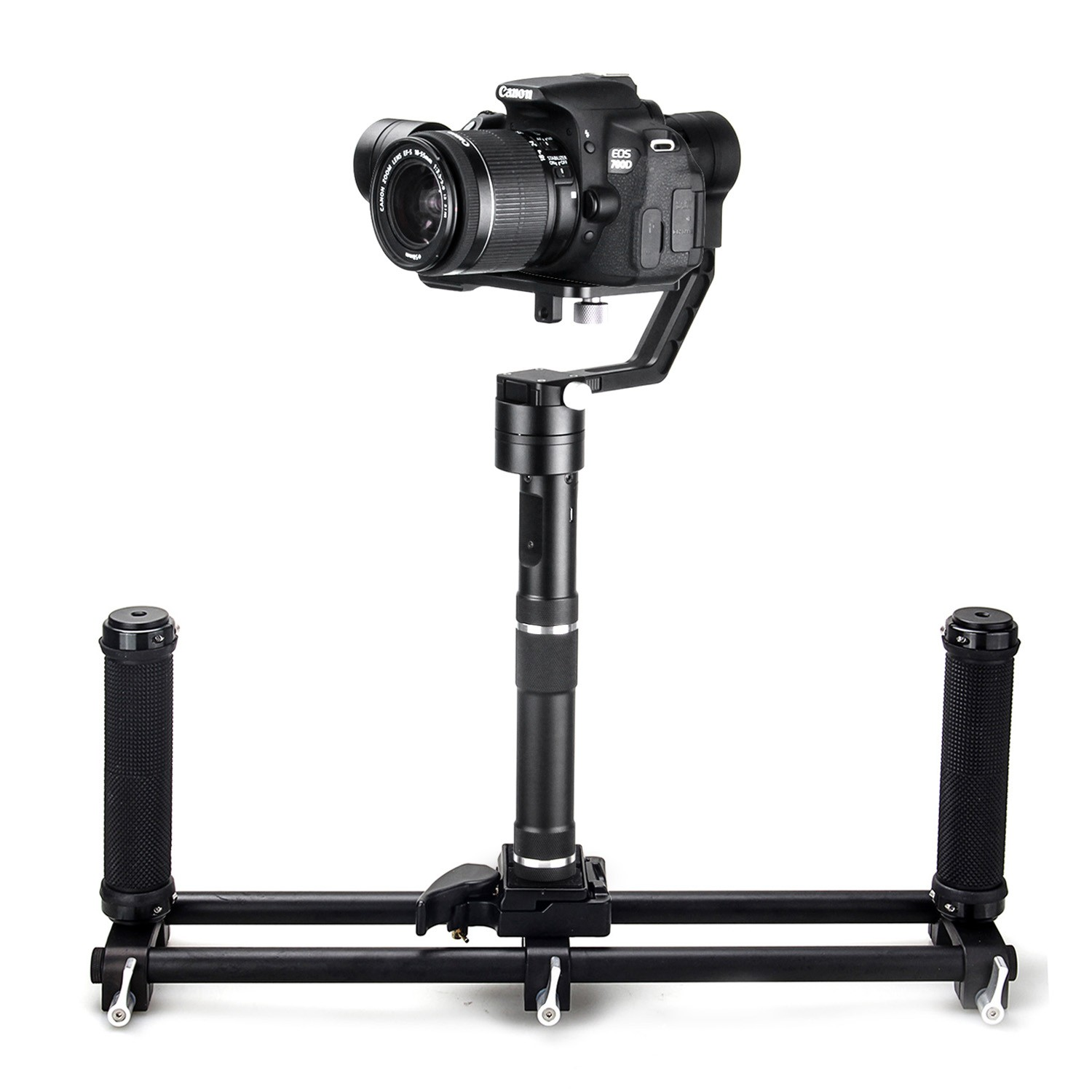 Zhiyun Crane 3-Axis Stabilizer Gimbal for Mirrorless Cameras +Dual Handheld grip neewer dual handheld grip for neewer zhiyun crane m 3 axis handheld stabilizer 1 5 ft 46 5 cm non slip durable camera gimbal