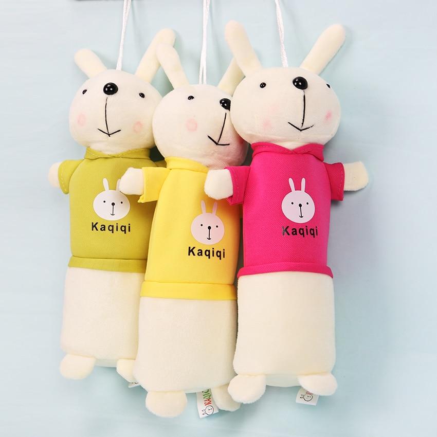 Cute Rabbit Plush Pencil Case Stationery Storage Organizer Bag School Office Supply Escolar