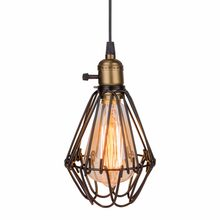 Lamp Light Classic Loft Rustic Bird Cage Pendant Lamp Pendant Light Vintage Bird Cage Lamp for Restaurant Bedroom Decoration(China)