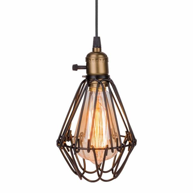 caged lighting. Lamp Light Classic Loft Rustic Bird Cage Pendant Vintage For Caged Lighting F