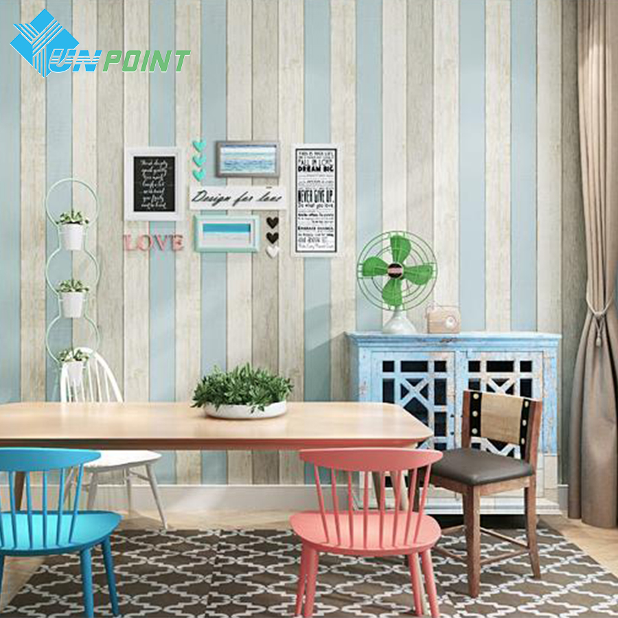 0.6m*3m Waterproof PVC Wood Grain Stickers Mediterranean Self Adhesive Wallpaper For Living Room Coffee Wall Decoration Poster 10m 45cm pvc blue sky white clouds self adhesive waterproof wallpaper bedroom children room sitting room cartoon wall stickers