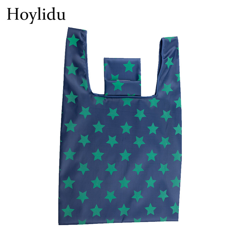 Waterproof Oxford Reusable Shopping Bags Women Foldable Tote Bag Portable Cloth Eco Grocery Bag Folding Large Capacity Handbags